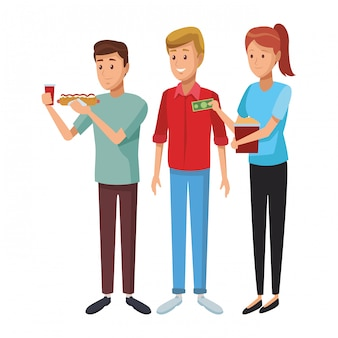 Friends people cartoon