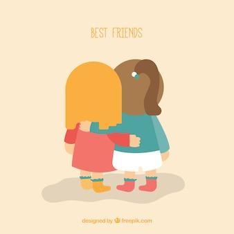 친구 함께 배경