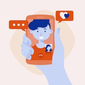 Friends video calling concept