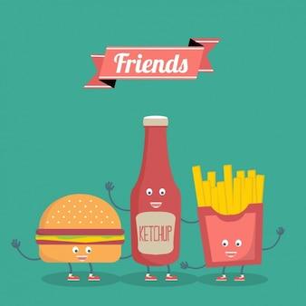 Disegno amicizia sfondo Vettore gratuito