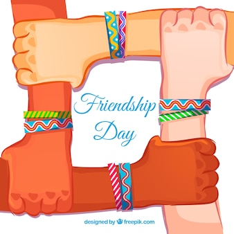 Friendship bracelets background