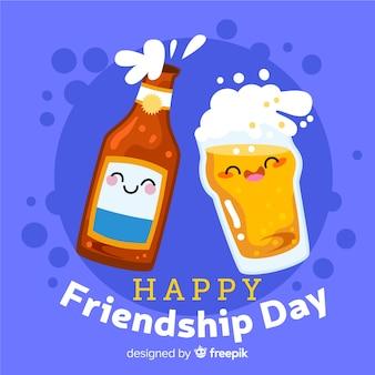 Friendship day background flat design