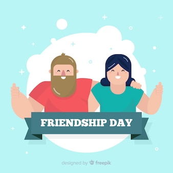 Friendship day background flat design