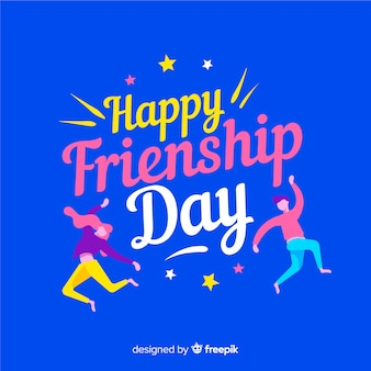 Friendship day background flat style