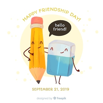 Friendship day background watercolor style