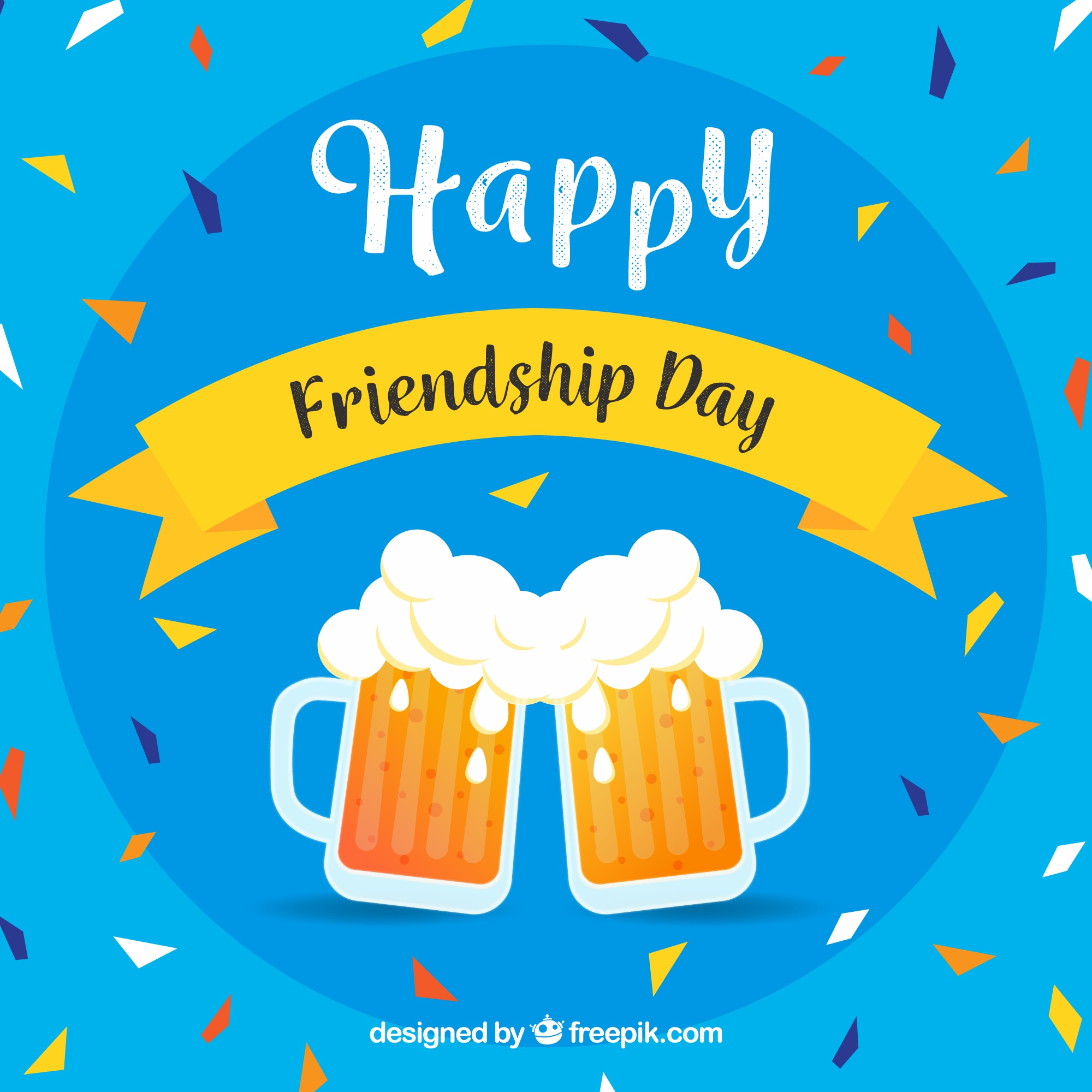 Friendship day background with beers