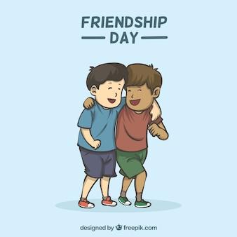가장 친한 친구와 우정의 날 배경
