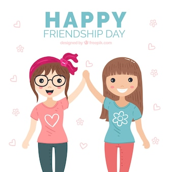 Friendship day background with best friends