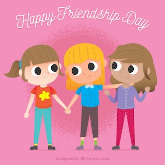 Friendship day background with best friends