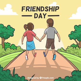 Friendship day background with couple