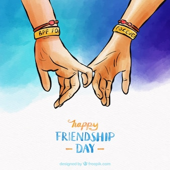 Friendship day background with hands