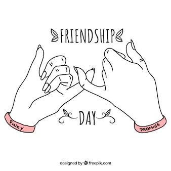 손으로 우정의 날 배경