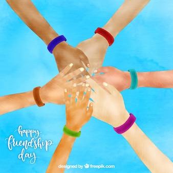 День дружбы с руками