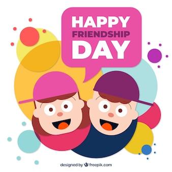 幸せな人と友情の日の背景