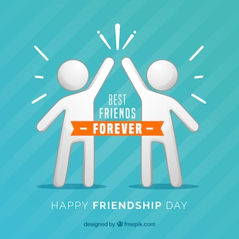 Friendship day background with people