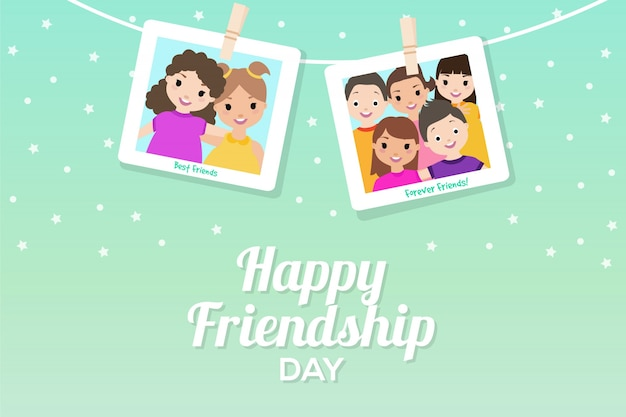 Friendship day background with pictures