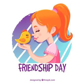 День дружбы с девушкой и цыпленком