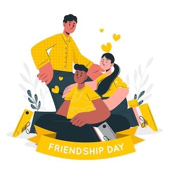 Иллюстрация концепции дня дружбы