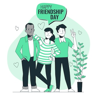 Friendship dayconcept illustration