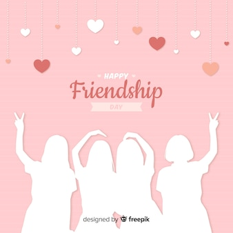 Friendship day flat design background