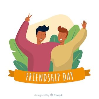 Friendship day flat design background