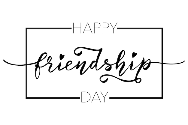 Friendship day hand drawn lettering