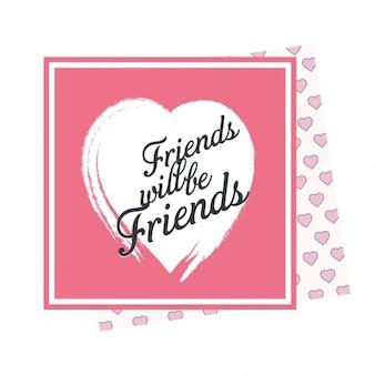 Friendship day love card