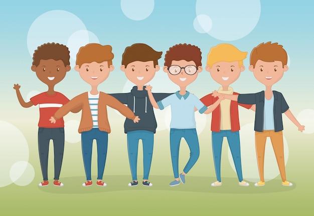 소년 만화 디자인의 우정