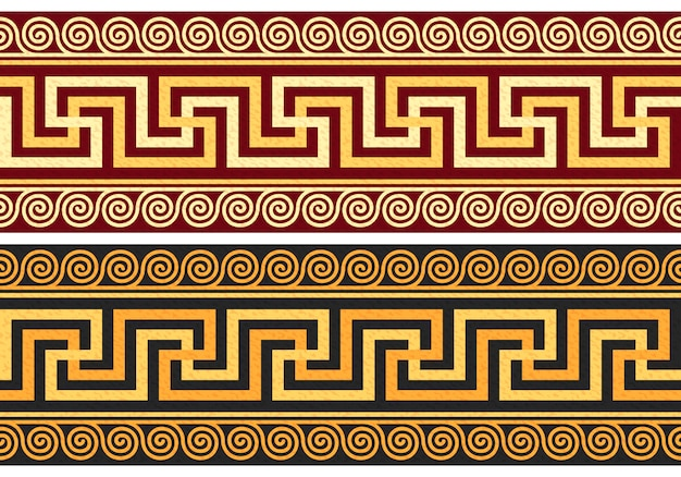 ギリシャの装飾が施されたフリーズ(蛇行)