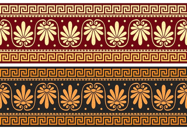 Frieze with greek ornament (meander)