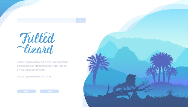 Frilled lizard landing page template