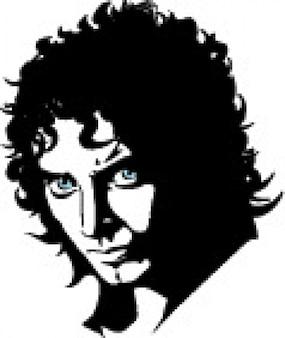 Frodo character head