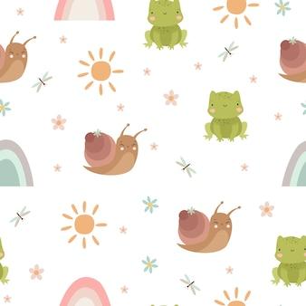 개구리와 달팽이 원활한 패턴