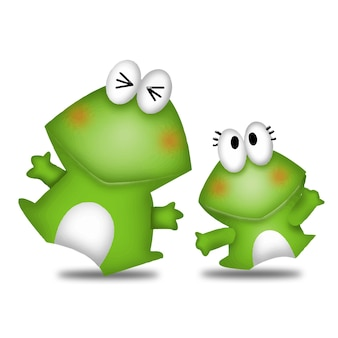 カエル漫画かわいい動物野生ペットバービーキャラクター人形甘いモデル感情アート