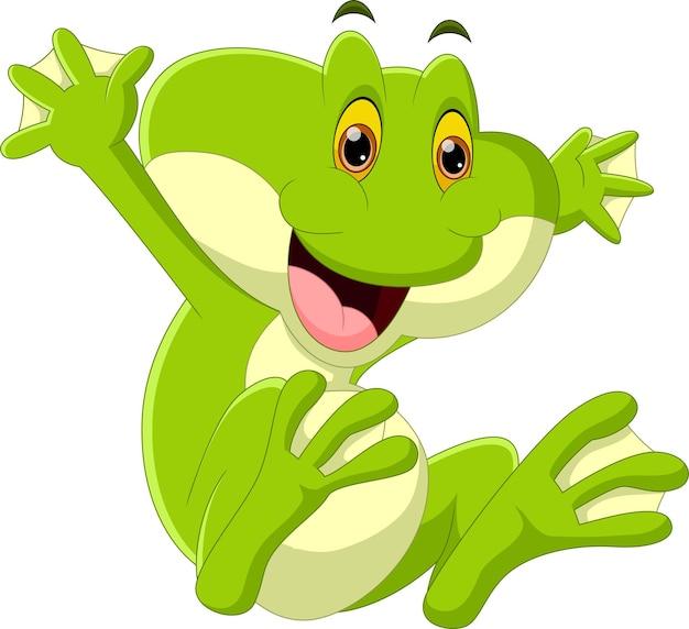 Мультфильм лягушка на белом фоне