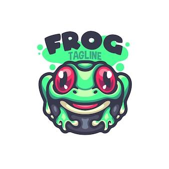 あなたの会社のカエルの漫画のロゴ