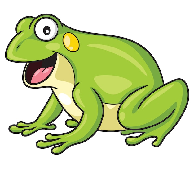 Frog cartoon style