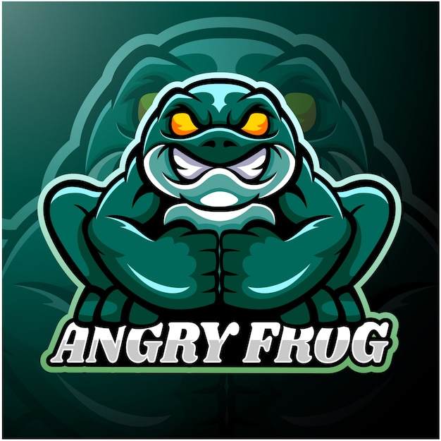 Frog esport logo mascot design