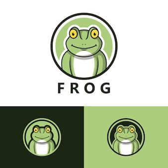 Дизайн шаблона логотипа лягушка
