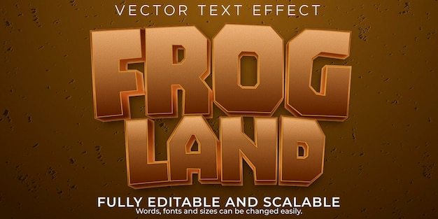 Frog text effect, editable cartoon and funny text style