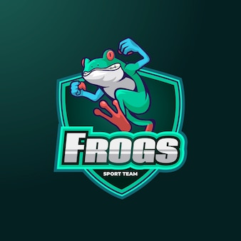 Frogs mascot logo