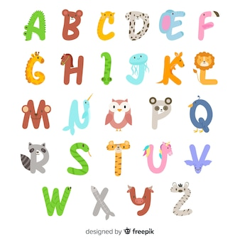 From a to z animal alphabet