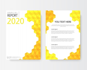 Front and back abstract cover modern flyers brochure