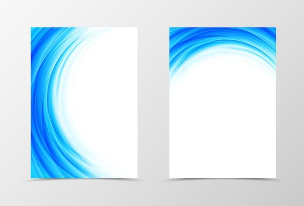전면 및 후면 동적 전단지 템플릿 디자인