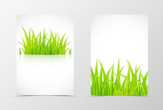 앞면과 뒷면 꽃 전단지 템플릿 디자인