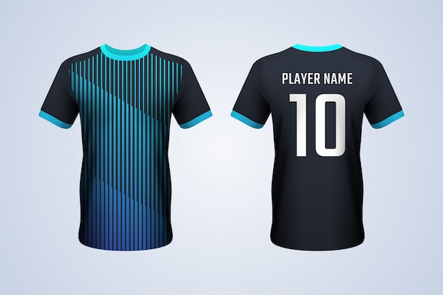 Front and back black t-shirt template