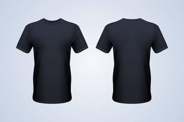 Front and back black t-shirt