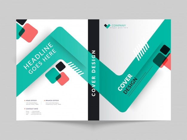 Front and back cover of a business brochure.