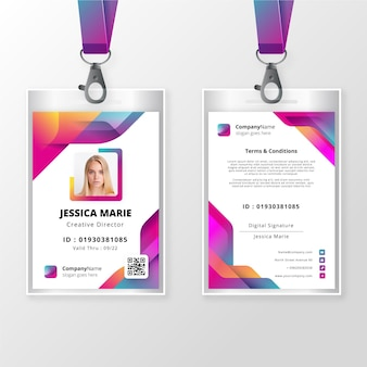 Front and back id card