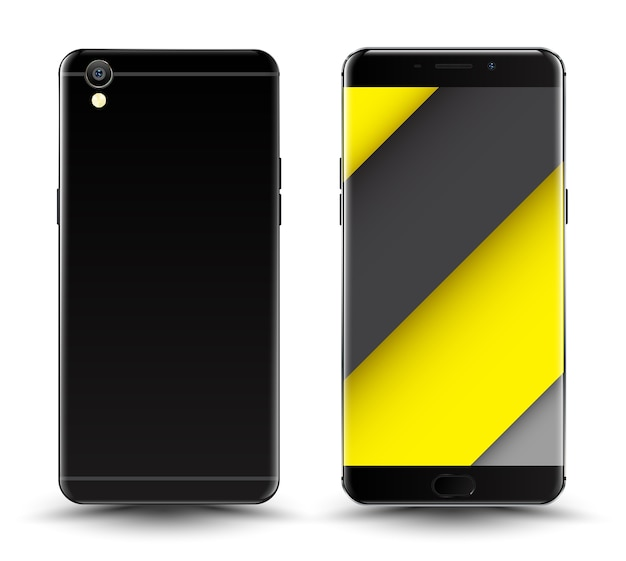Front and back smartphone mockup.